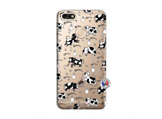 Coque Huawei Y6 2018 Cow Pattern