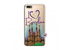 Coque Huawei Y6 2018 I Love Barcelona