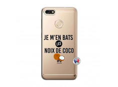 Coque Huawei Y6 2018 Je m'en bats Les Noix De Coco