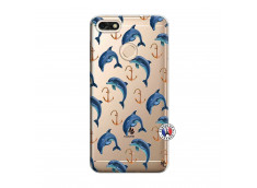 Coque Huawei Y6 2018 Dauphins