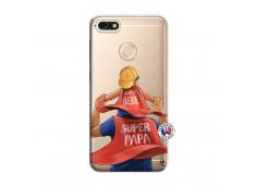Coque Huawei Y6 2018 Super Papa et Super Bébé
