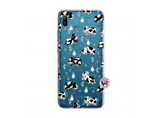Coque Huawei Y6 2019 Cow Pattern