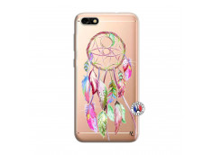 Coque Huawei Y6 PRO 2017 Pink Painted Dreamcatcher