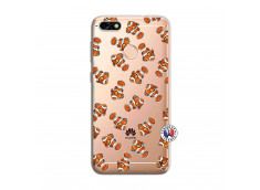 Coque Huawei Y6 PRO 2017 Petits Poissons Clown