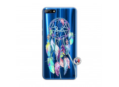 Coque Huawei Y7 2018 Blue Painted Dreamcatcher