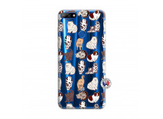 Coque Huawei Y7 2018 Cat Pattern