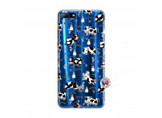 Coque Huawei Y7 2018 Cow Pattern