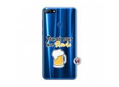 Coque Huawei Y7 2018 Jamais Sans Ma Blonde