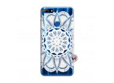 Coque Huawei Y7 2018 White Mandala
