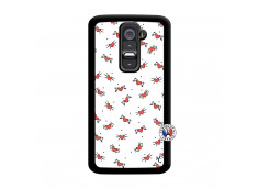 Coque Lg G2 Cartoon Heart Noir