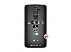Coque Lg G2 Marseillais à Vie