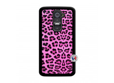 Coque Lg G2 Pink Leopard Noir