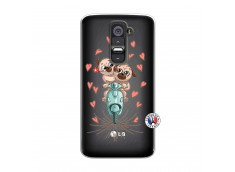 Coque Lg G2 Puppies Love