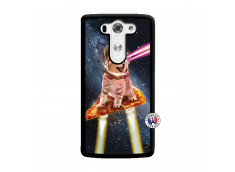 Coque Lg G3 Cat Pizza Noir