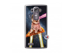 Coque Lg G4 Cat Pizza Translu