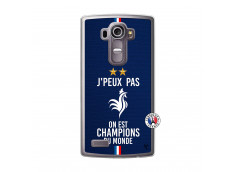 Coque Lg G4 Je Peux Pas On Est Les Champions Du Monde Translu