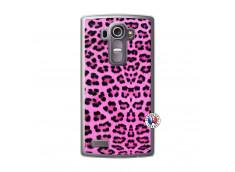 Coque Lg G4 Pink Leopard Translu