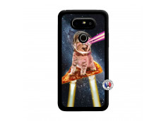 Coque Lg G5 Cat Pizza Noir