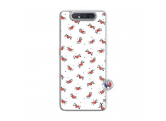Coque Samsung Galaxy A80 Cartoon Heart Translu