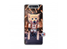 Coque Samsung Galaxy A80 Cat Nasa Translu