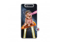 Coque Samsung Galaxy A80 Cat Pizza Translu