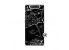Coque Samsung Galaxy A80 Black Marble Translu