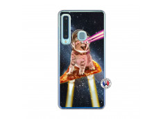 Coque Samsung Galaxy A9 2018 Cat Pizza Translu