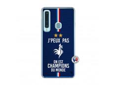 Coque Samsung Galaxy A9 2018 Je Peux Pas On Est Les Champions Du Monde Translu