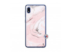 Coque Samsung Galaxy A10 Marbre Rose Translu