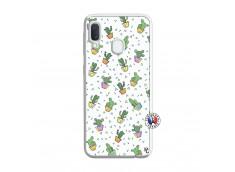 Coque Samsung Galaxy A20e Le Monde Entier est un Cactus Translu