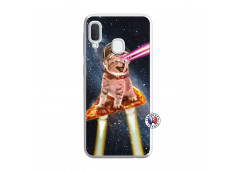 Coque Samsung Galaxy A20e Cat Pizza Translu