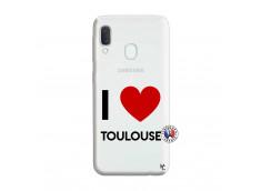Coque Samsung Galaxy A20e I Love Toulouse