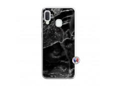 Coque Samsung Galaxy A20e Black Marble Translu
