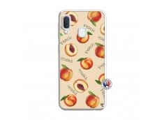 Coque Samsung Galaxy A20e Sorbet Pêche Translu