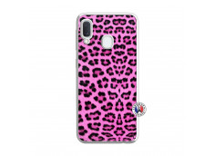 Coque Samsung Galaxy A20e Pink Leopard Translu