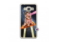 Coque Samsung Galaxy A3 2015 Cat Pizza Translu