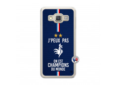 Coque Samsung Galaxy A3 2015 Je Peux Pas On Est Les Champions Du Monde Translu