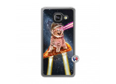 Coque Samsung Galaxy A3 2016 Cat Pizza Translu