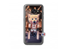 Coque Samsung Galaxy A3 2017 Cat Nasa Translu