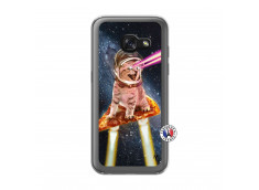 Coque Samsung Galaxy A3 2017 Cat Pizza Translu