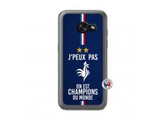 Coque Samsung Galaxy A3 2017 Je Peux Pas On Est Les Champions Du Monde Translu