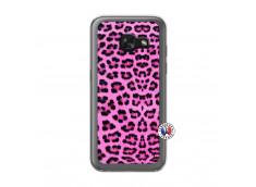 Coque Samsung Galaxy A3 2017 Pink Leopard Translu
