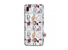 Coque Samsung Galaxy A30 Cat Pattern