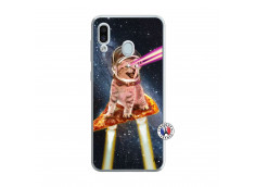 Coque Samsung Galaxy A30 Cat Pizza Translu