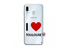 Coque Samsung Galaxy A30 I Love Toulouse