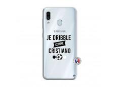 Coque Samsung Galaxy A30 Je Dribble Comme Cristiano
