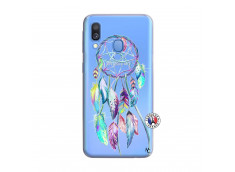 Coque Samsung Galaxy A40 Blue Painted Dreamcatcher
