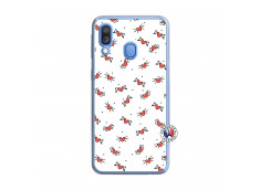 Coque Samsung Galaxy A40 Cartoon Heart Translu