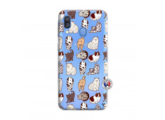 Coque Samsung Galaxy A40 Cat Pattern