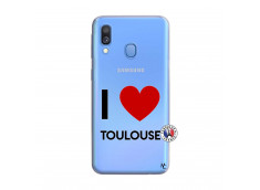Coque Samsung Galaxy A40 I Love Toulouse